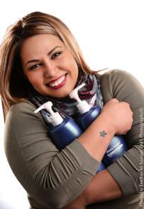 Portrait of Mandy Nunez with Shampoo