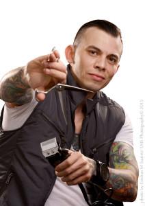 Portrait of Ivis Hernandez with Scissors