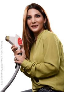 Portrait of Ghada Salem with Laser