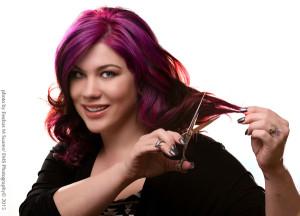 Portrait of Tammy England Martinez with Scissors