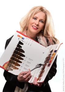 Portrait of Susan Gates with Color Book