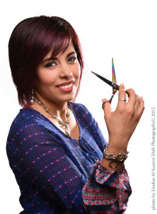 Portrait of Yvette Gonzalez with Scissors