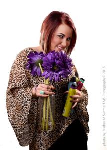 Portrait of Shayna Mandolin Cupples with Flowers