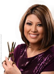 Portrait of Blanca Escalante with Scissors